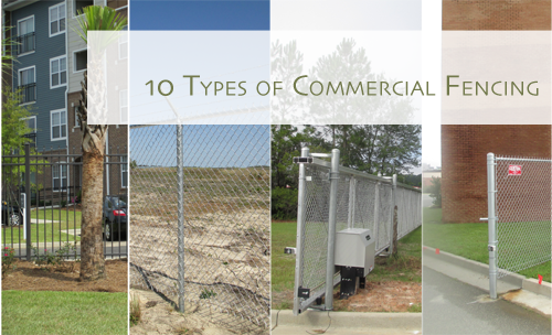Types of commercial fencing