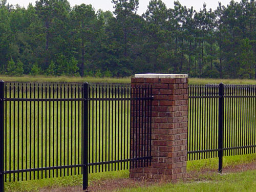 commercial fence large property