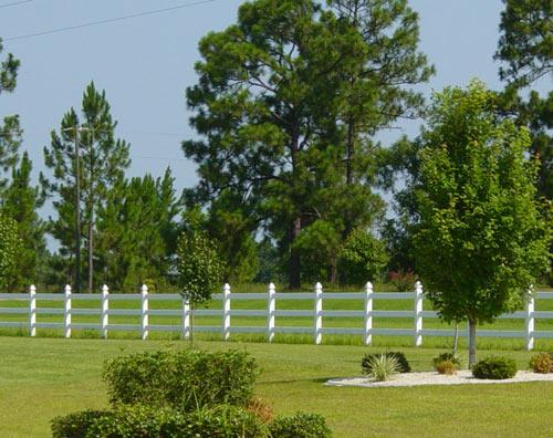 vinyl fence rail
