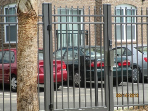 apartment complex fencing
