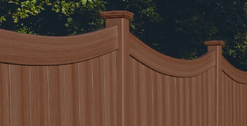 vinyl fence that looks like wood