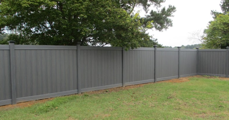 Light Grey Vinyl Fence