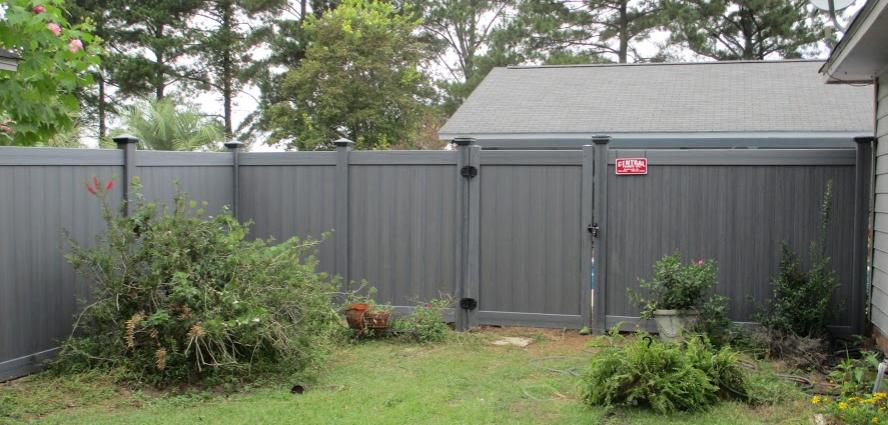 Small Garden -- Vinyl Fence